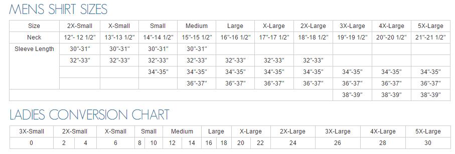 Size Chart View Sizing